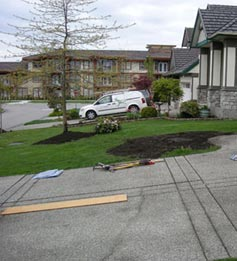 South Surrey home before Fabulous Flower Beds - pic 2